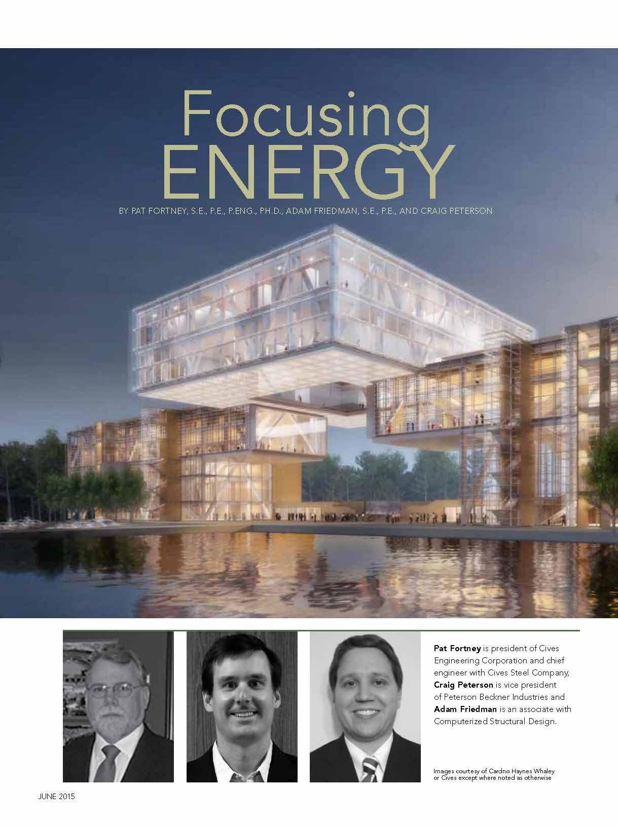 Modern Steel Construction - Focusing Energy | CSD Structural Engineers