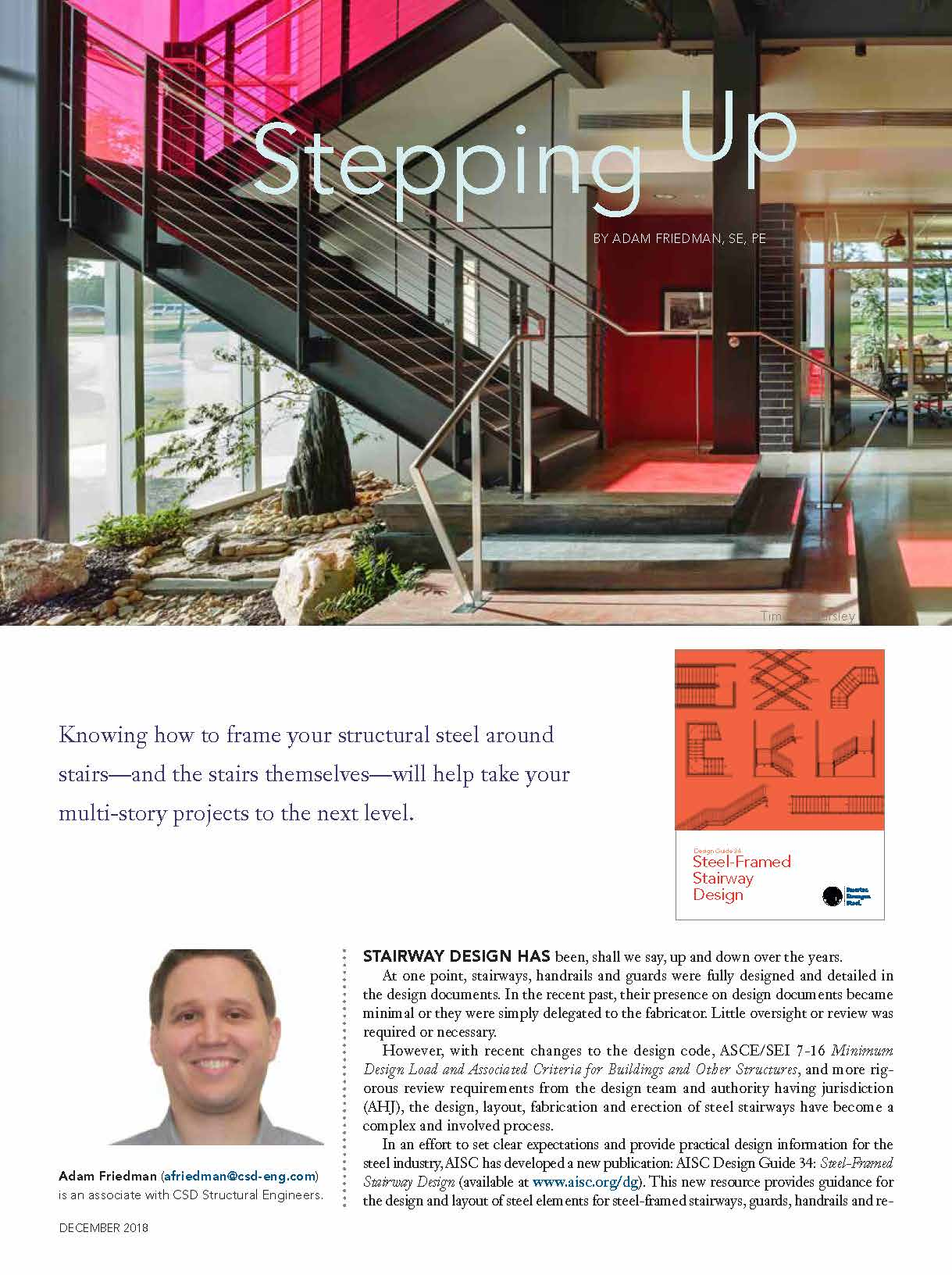 Stepping Up | CSD Structural Engineers